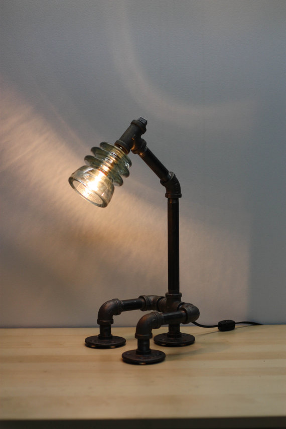 glass insulator lamp photo - 8