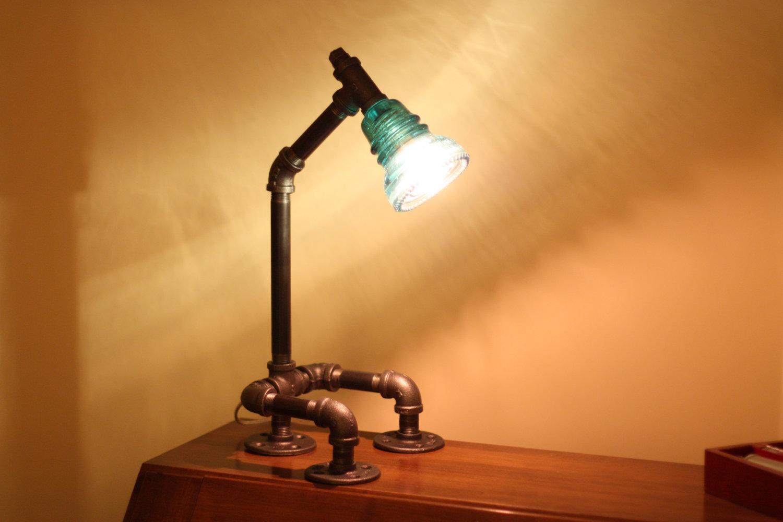 glass insulator lamp photo - 9