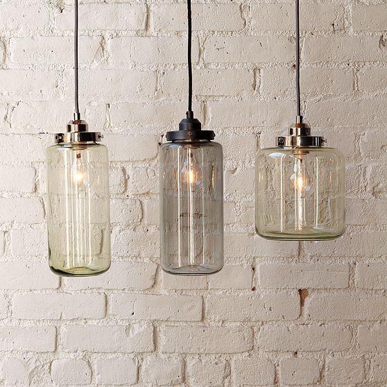 glass jar lamp photo - 1