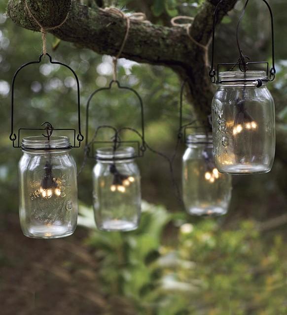 glass jar lamp photo - 10