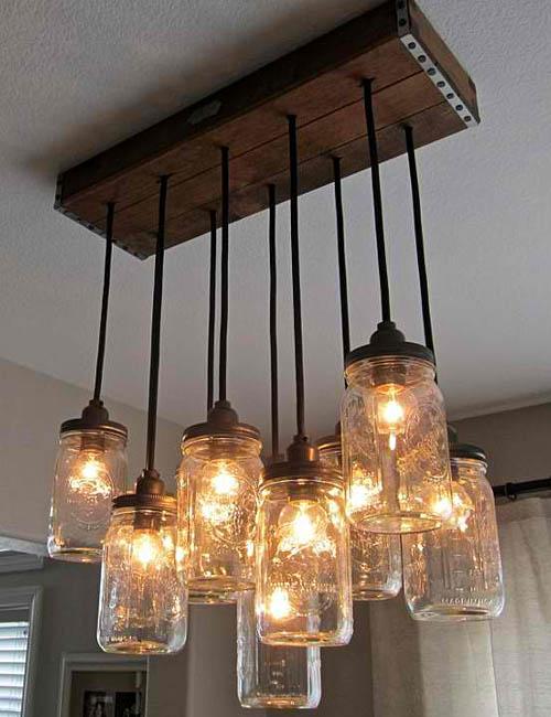 glass jar lamp photo - 5