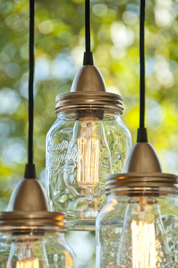 glass jar lamp photo - 8