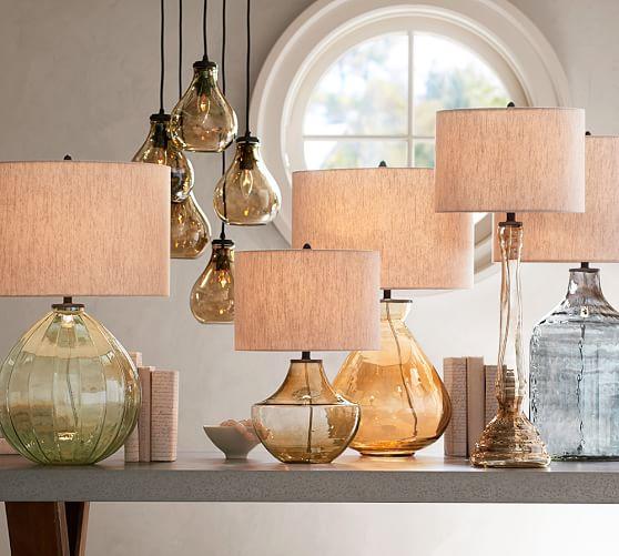 glass jug lamp photo - 2