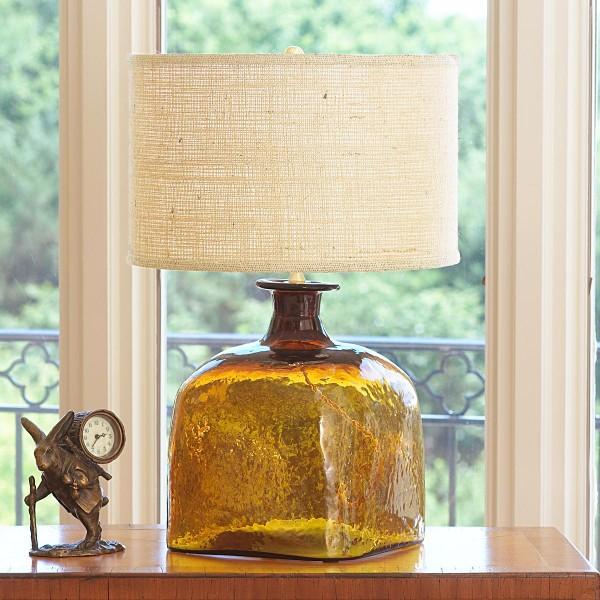 glass jug lamp photo - 7