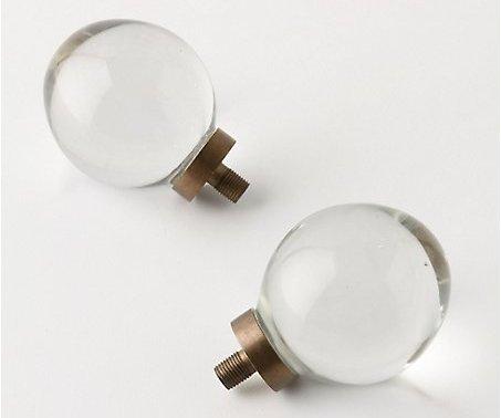glass lamp finials photo - 2