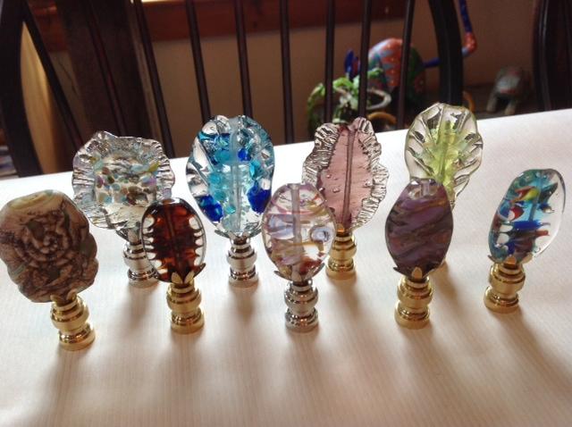 glass lamp finials photo - 4