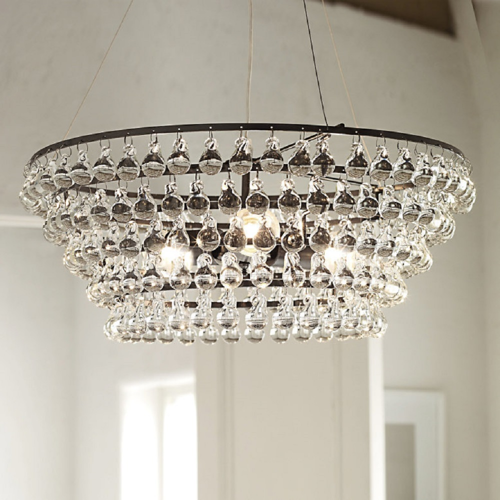 glass orb ceiling light photo - 3