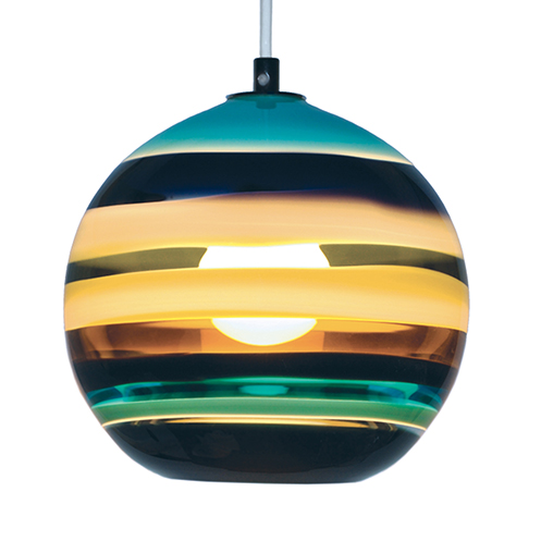 glass orb ceiling light photo - 4