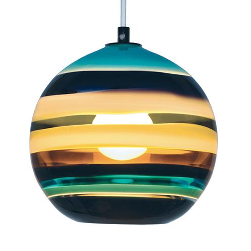 glass orb ceiling light photo - 4