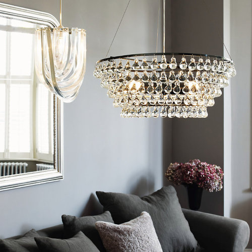 glass orb ceiling light photo - 5