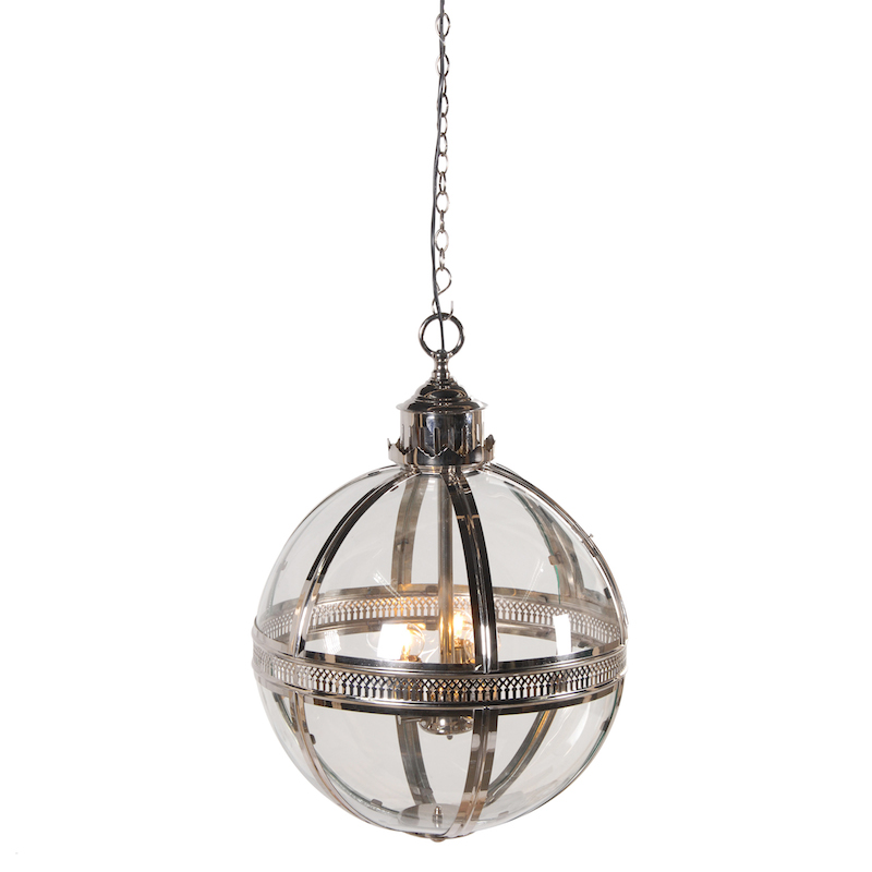 glass orb ceiling light photo - 7