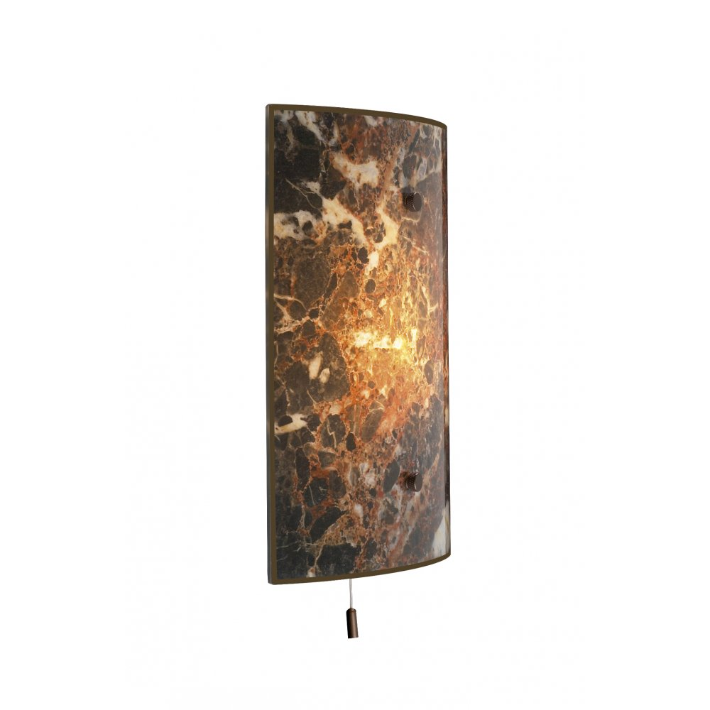 Wall Light Glass Panel : Glass panel wall light Warisan Lighting