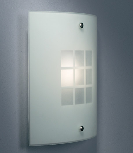 glass panel wall light photo - 8
