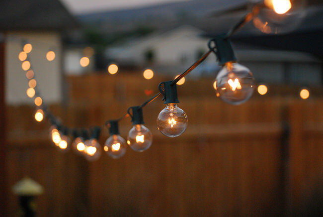 globe outdoor string lights photo - 4