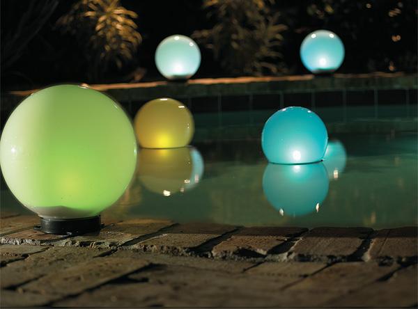 globe solar lights outdoor photo - 1