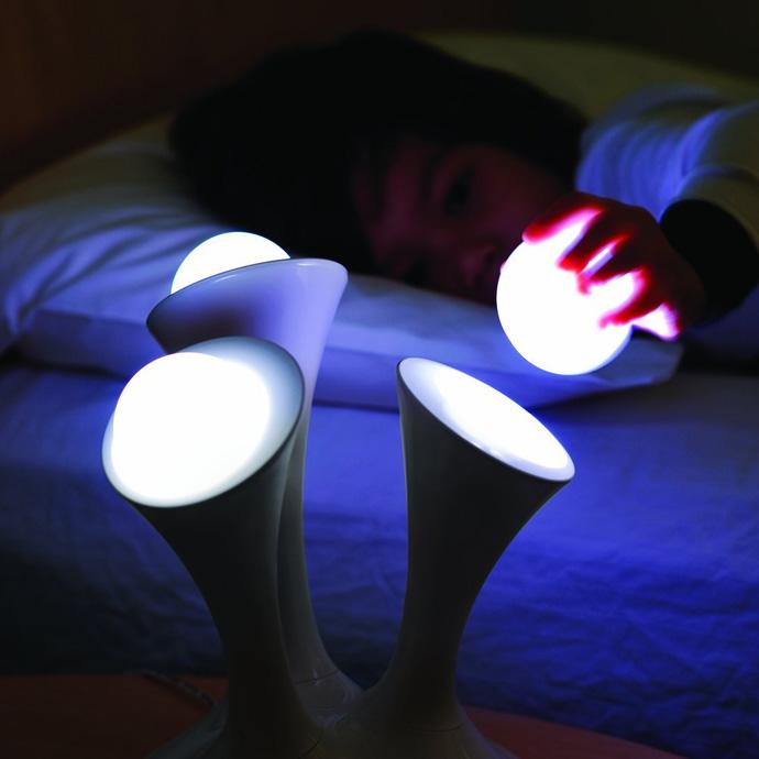 glowing night light ball lamp photo - 1
