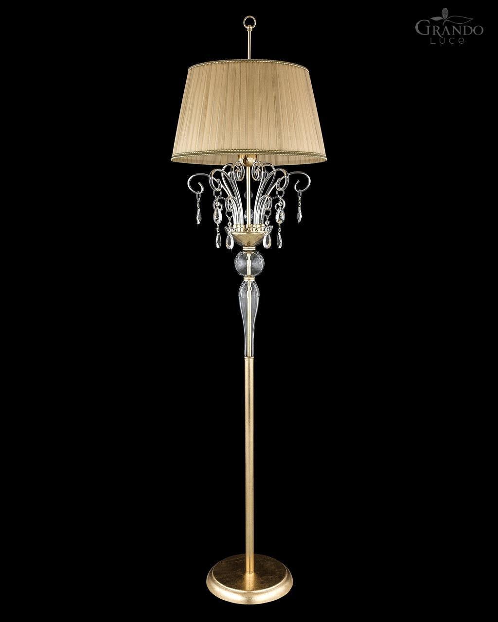 gold floor lamps photo - 2