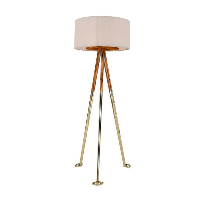 gold floor lamps photo - 8