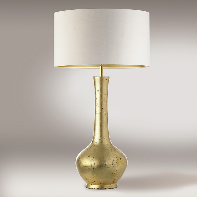 gold table lamps photo - 2
