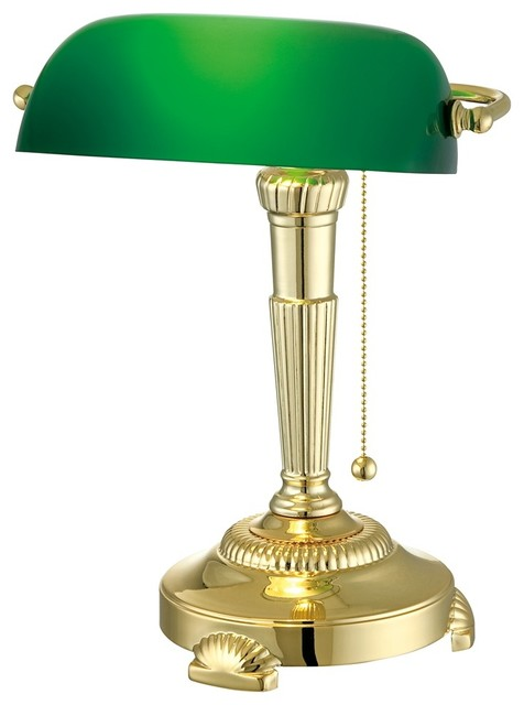 green bankers lamp photo - 10
