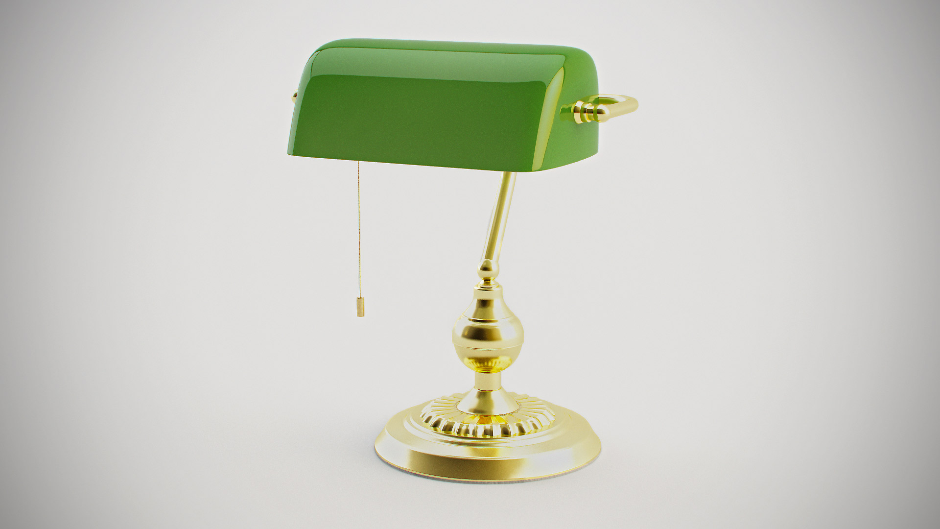 green bankers lamp photo - 2