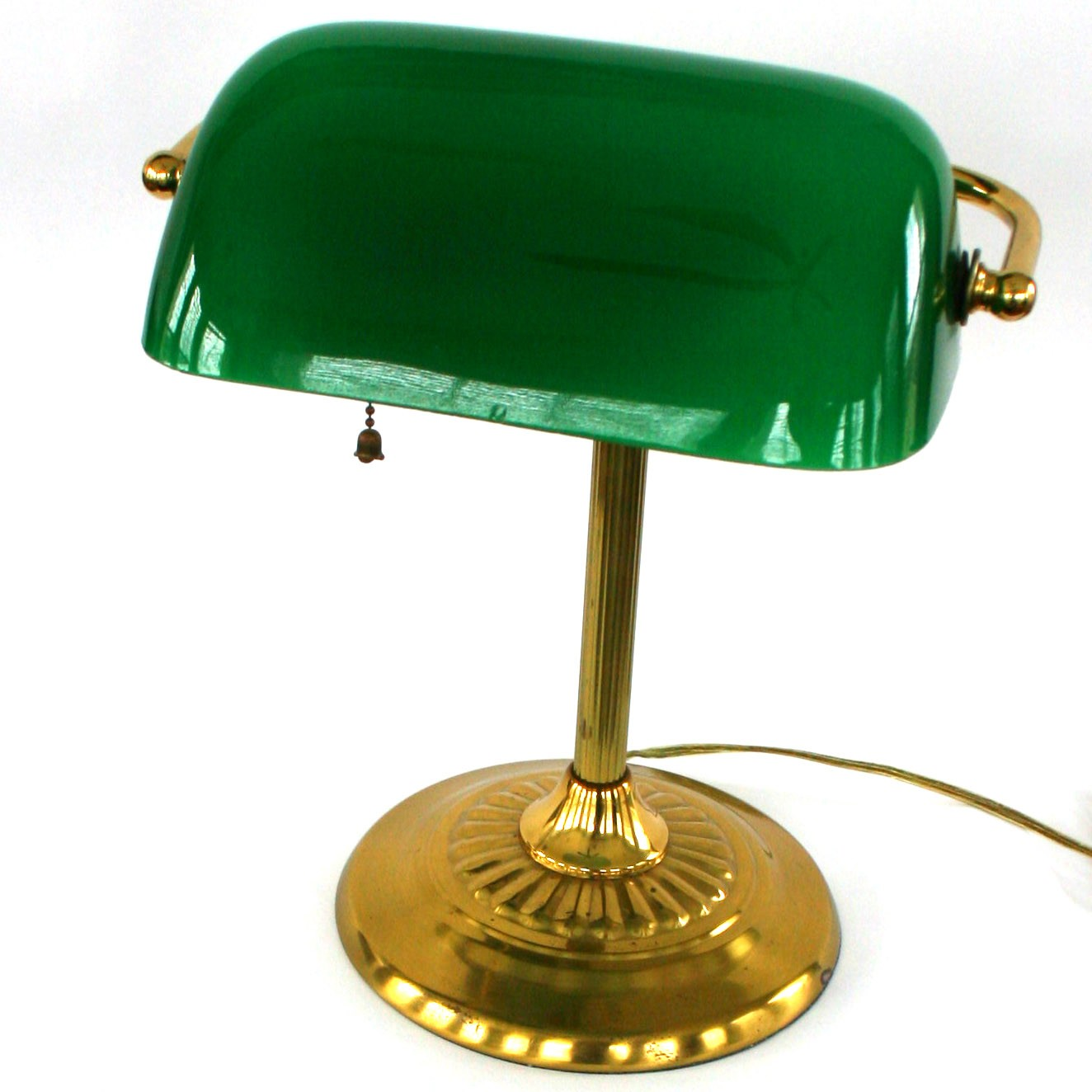 green bankers lamp photo - 3