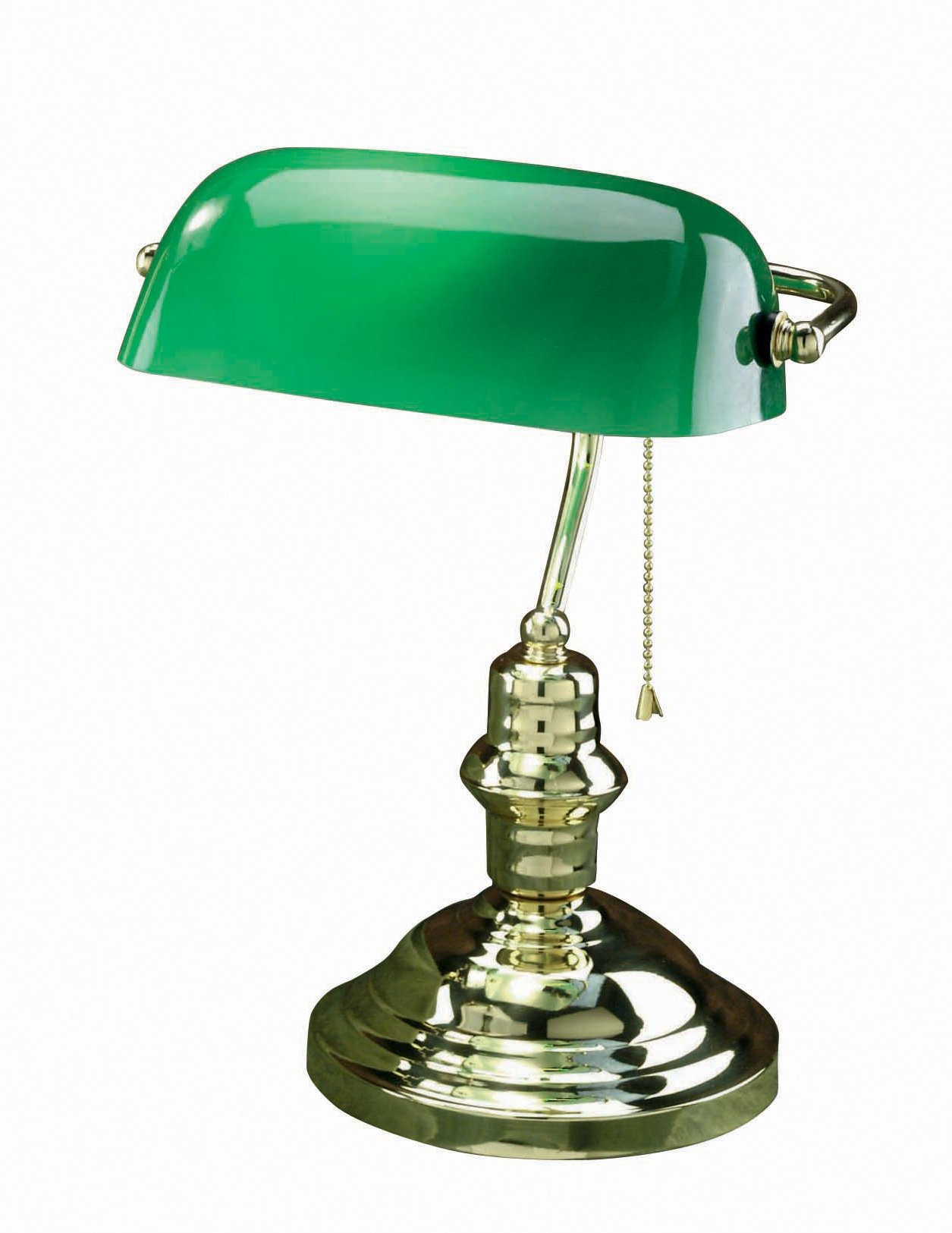 green bankers lamp photo - 4