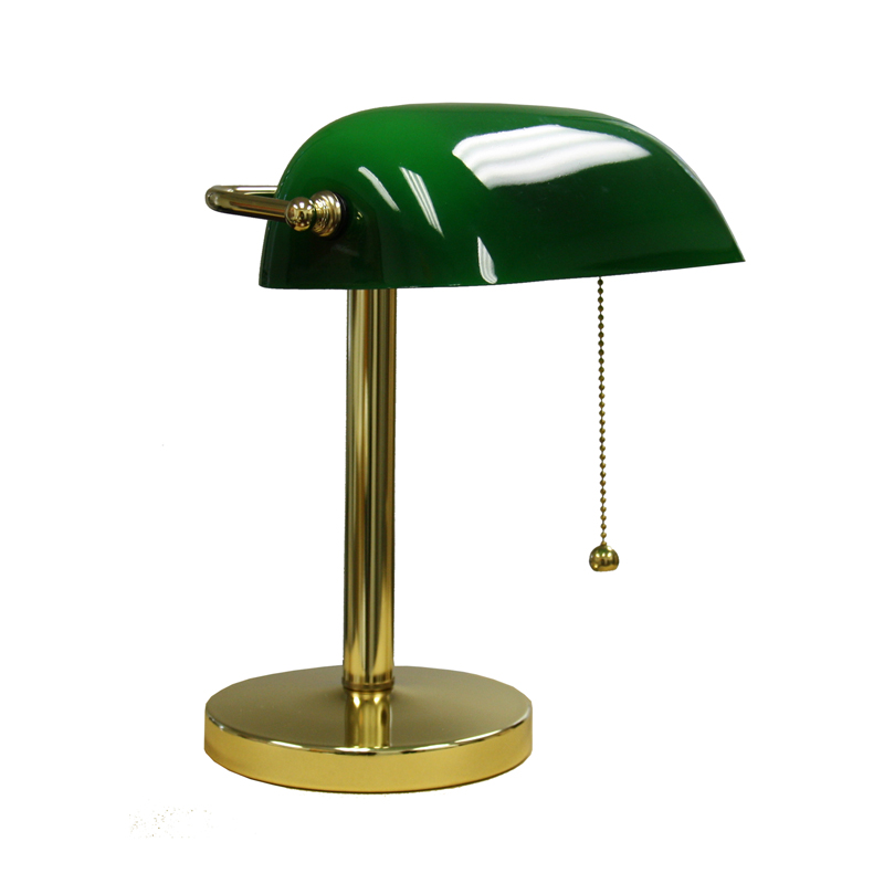 green bankers lamp photo - 6