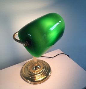green bankers lamp photo - 8