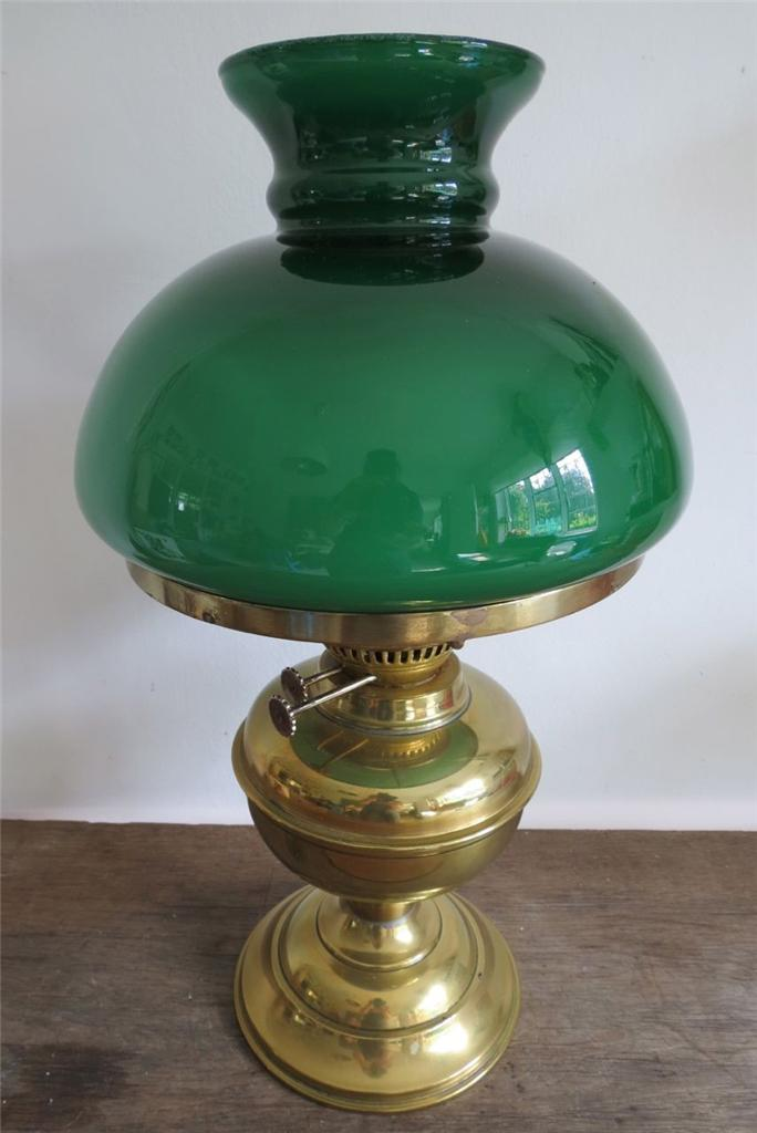green glass desk lamp photo - 6