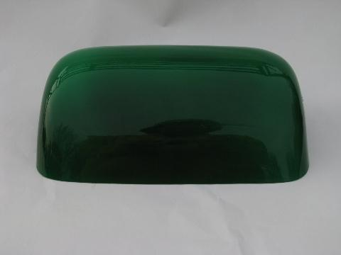 green glass desk lamp photo - 7