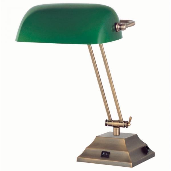 Green Glass Desk Lamp Photo   8