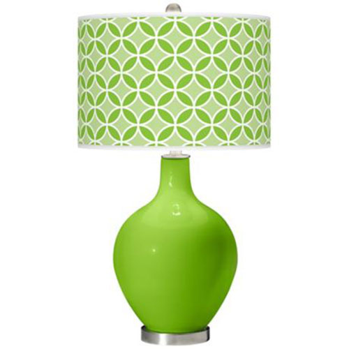 green glass table lamps photo - 2