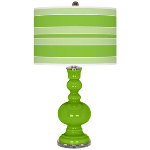 green glass table lamps photo - 3