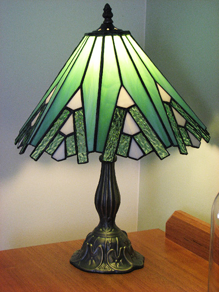 green glass table lamps photo - 5
