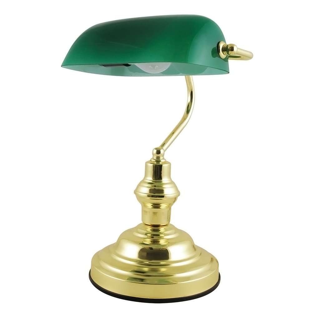 green glass table lamps photo - 9