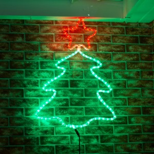 green outdoor christmas lights photo - 10
