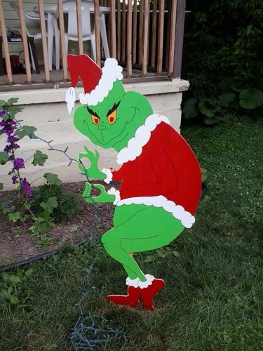 grinch christmas lights outdoor photo - 3