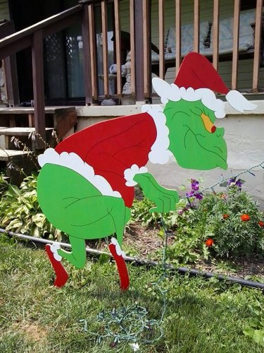 grinch christmas lights outdoor photo - 7