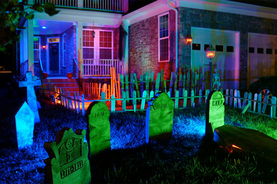 halloween lights outdoor photo - 2
