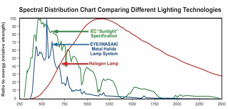 halogen lamp spectrum photo - 6