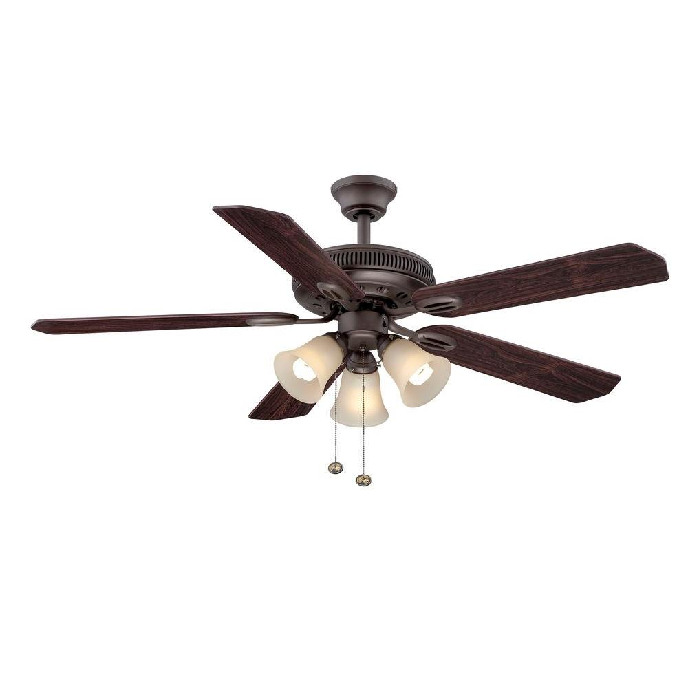 Hampton Bay Bronze Ceiling Fan Photo 1