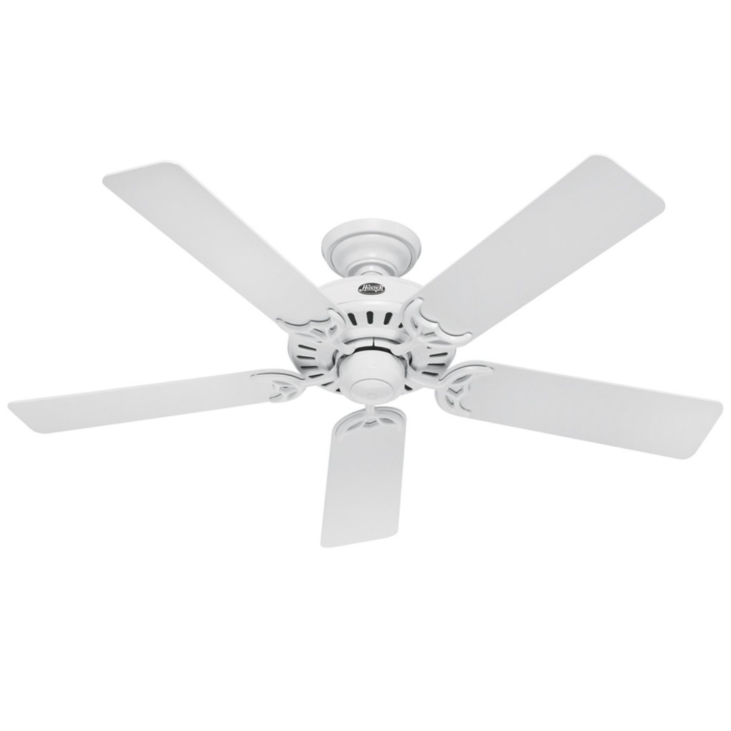 hampton bay ceiling fan white photo - 3