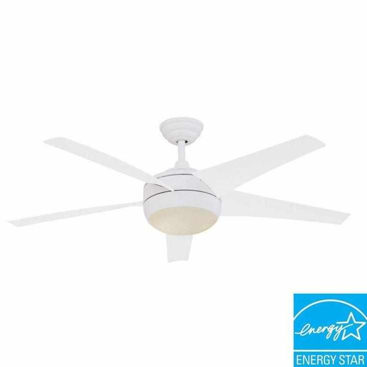 hampton bay ceiling fan white photo - 7