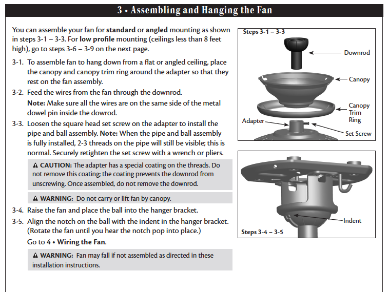 hampton bay ceiling fan wiring photo - 7