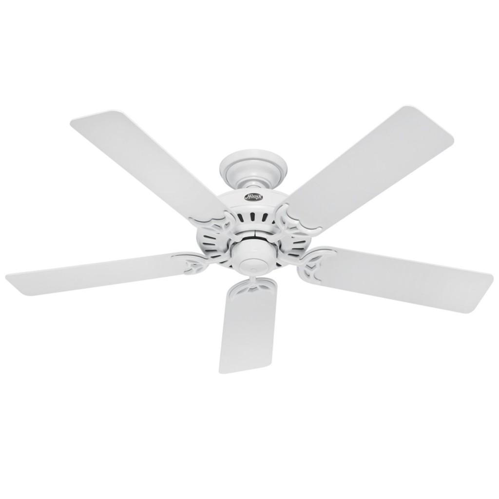 hampton bay white ceiling fan photo - 1