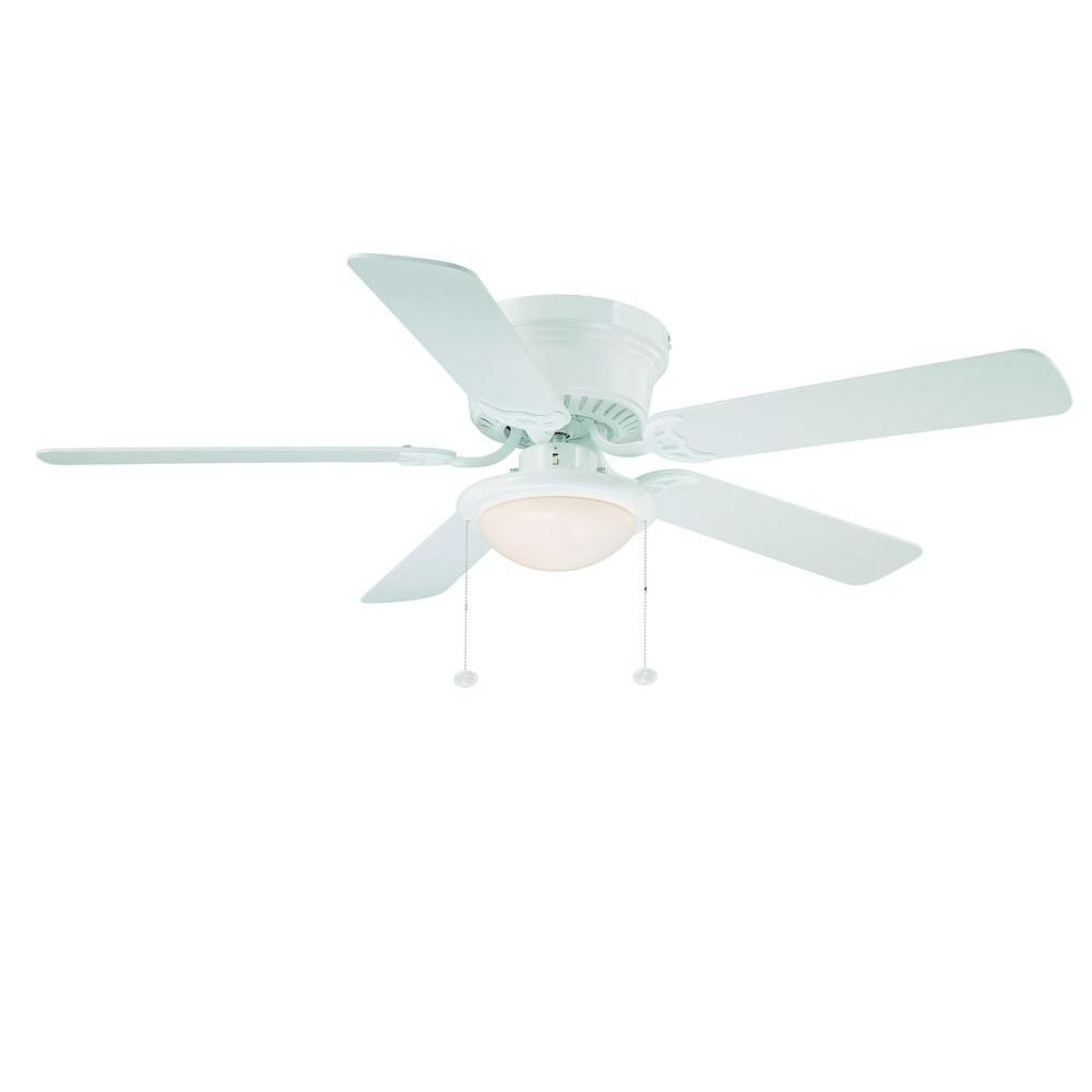hampton bay white ceiling fan photo - 2