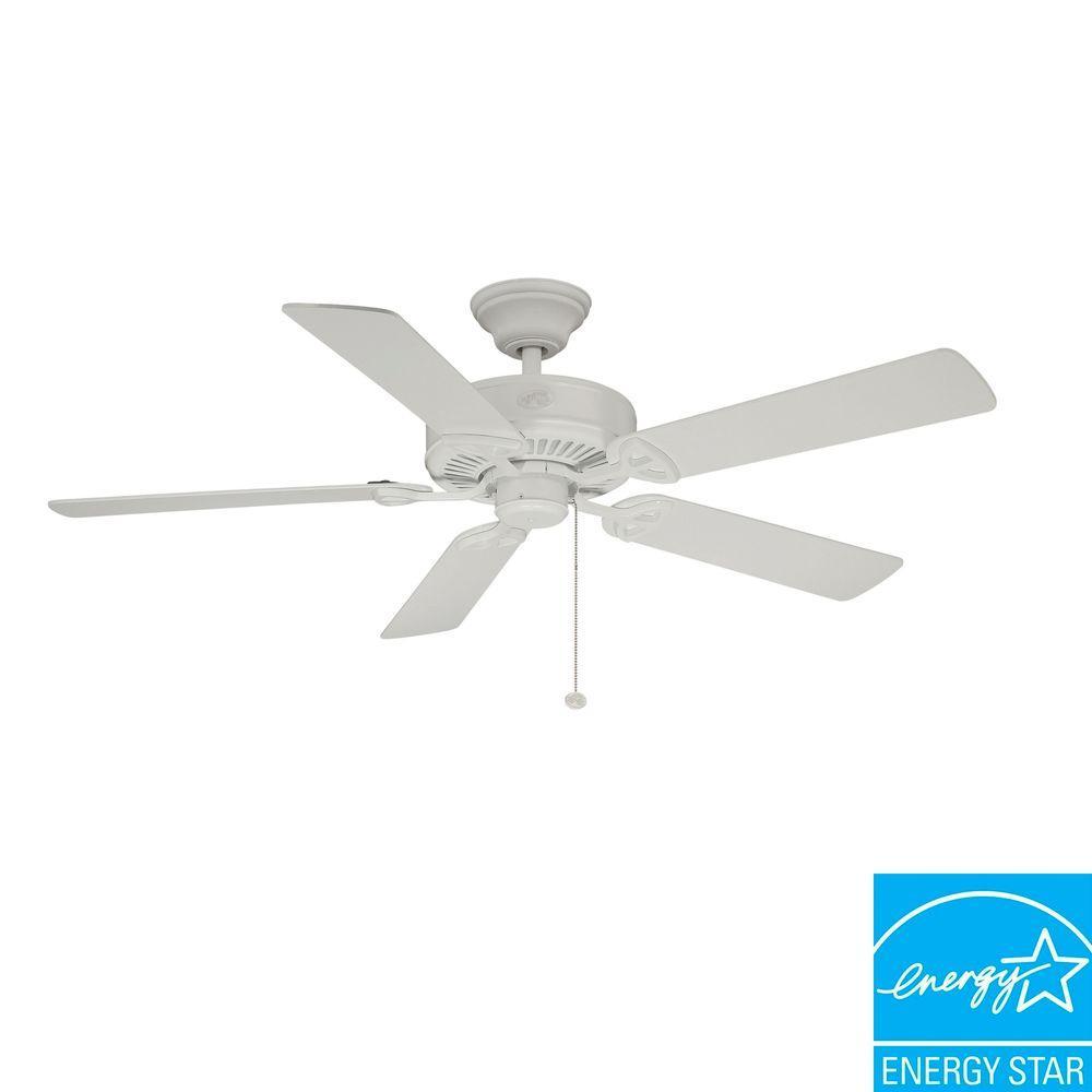 hampton bay white ceiling fan photo - 3