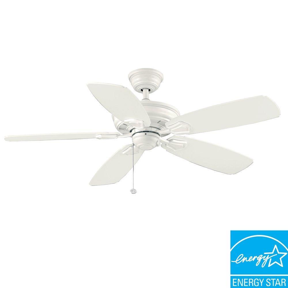 hampton bay white ceiling fan photo - 7