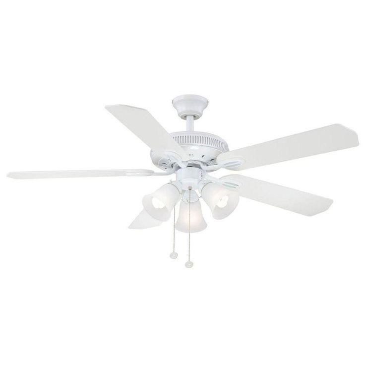 hampton bay white ceiling fan photo - 8